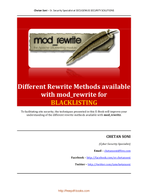 Different Rewrite Methods Available With Mod Rewrite For Blacklisting