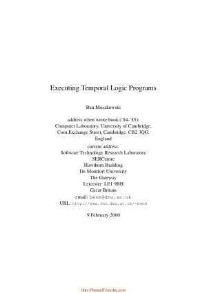 Executing Temporal Logic Programs