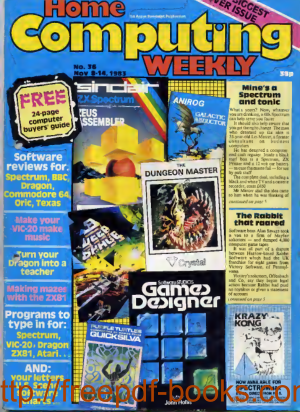 Home Computing Weekly Technology Magazine 036