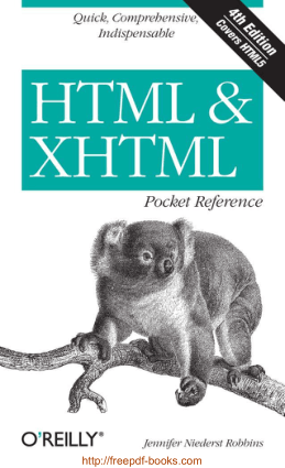 HTML and XHTML Pocket Reference 4th Edition