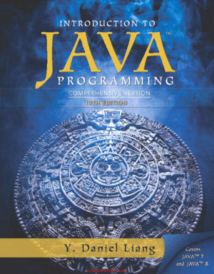 Introduction To Java Programming Comprehensive Version 10th Edition Book 2018 year