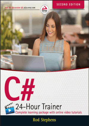 C# 24 Hour Trainer 2nd Edition Book 2018 year