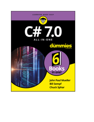 C# 7.0 All-in-One For Dummies Book 2018 year