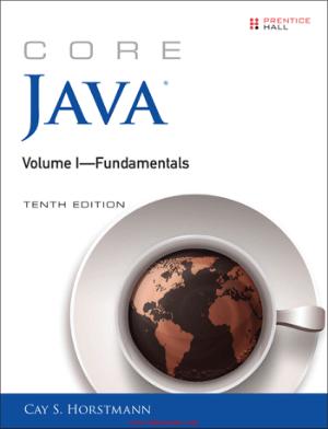 Core Java Volume I Fundamentals 10th Edition Book 2018 year
