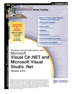 Microsoft Visual C# .Net And Microsoft Visual Studio .Net Version 3.0.0