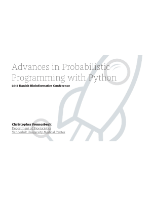 Advances in Probabilistic Programming with Python Book of 2017 Danish Bioinformatics Conference Book
