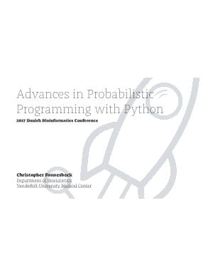 Advances in Probabilistic Programming with Python Book of 2017 Danish Bioinformatics Conference Book