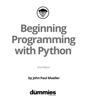 Beginning Programming with Python 2nd Edition Book of 2018 Book