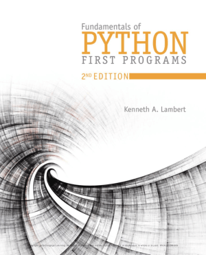 Fundamentals of Python: First Programs second Edition Book Of 2019