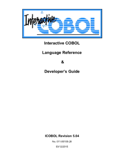 Interactive COBOL Language Reference Developers Guide PDF