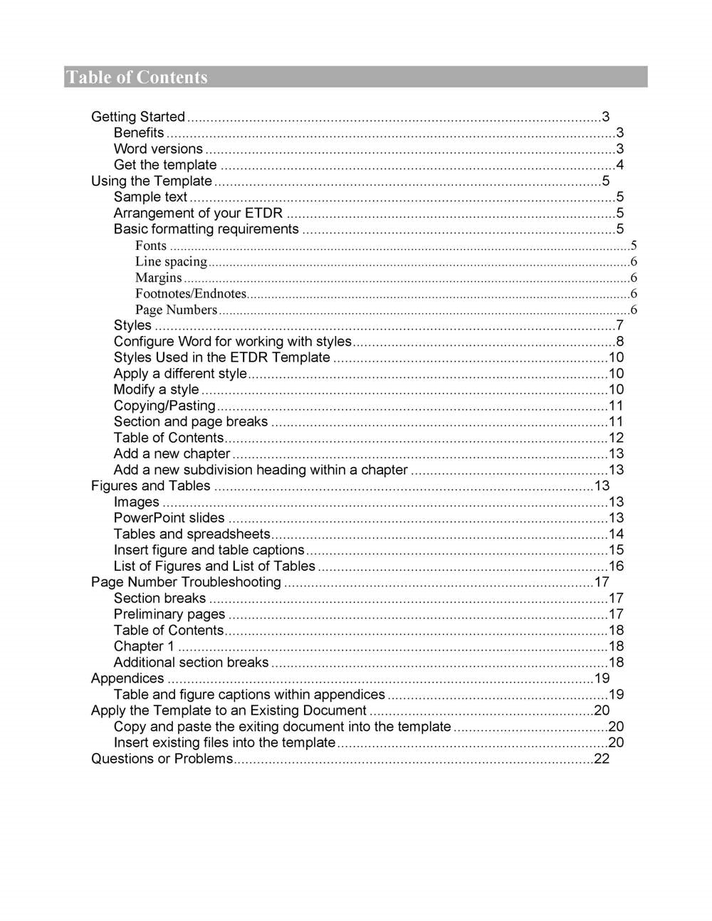 Word Book Template With Table Of Contents from freepdf-books.com