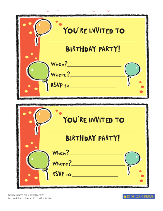 Free Download PDF Books, Birthday Party Invitation Card Templates Word | PDF