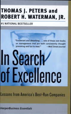 Free Download PDF Books, In Search of Excellence Lessons from Americas Best-Run Companies