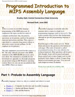Programmer introduction to MIPS assembly language