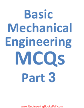 Free Download PDF Books, Basic Mechanical Engineering MCQs Part 3