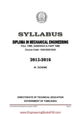 Free Download PDF Books, Diploma in Mechanical Engineering