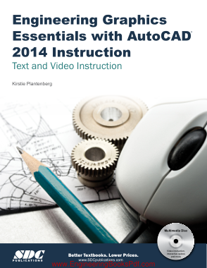 Free Download PDF Books, Engineering Graphics Essentials with AutoCAD 2014 Instruction Text and Video Instruction