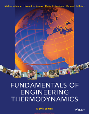 Free Download PDF Books, Fundamentals of Engineering Thermodynamics 8th Edition