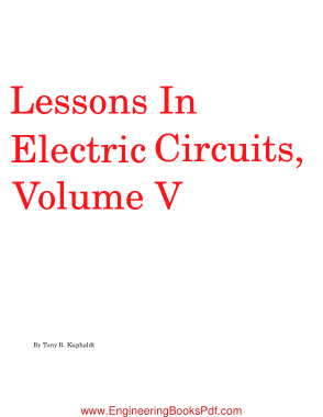 Free Download PDF Books, Lessons In Electric Circuits Volume V Reference