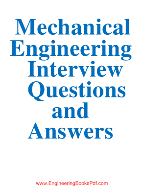 Free Download PDF Books, Mechanical Engineering Interview Questions With Answers