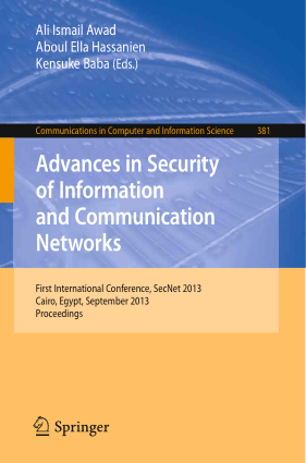 Advances in Security of Information and Communication Networks – Networking Book