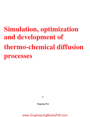 Free Download PDF Books, Simulation Optimization and Development of Thermo Chemical Diffusion Processes