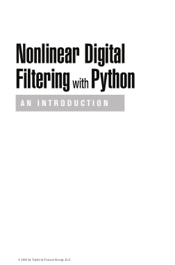 Free Download PDF Books, Nonlinear digital filtering with Python an introduction