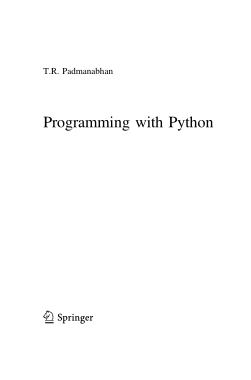 Free Download PDF Books, Programming with Python