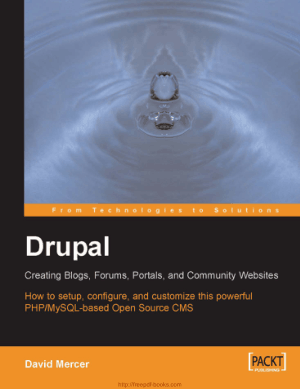 Free Download PDF Books, Drupal Creating Blogs Forums Portals And Community Websites