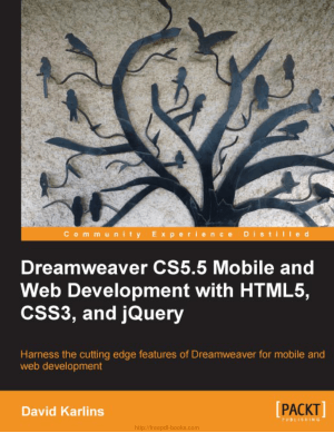 Dreamweaver Cs5 5 Mobile And Web Development With Html5 Css3 And Jquery Pdf Free Download Pdf Book Free Pdf Books