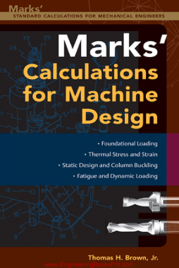 Free Download PDF Books, Calculations For Machine Design