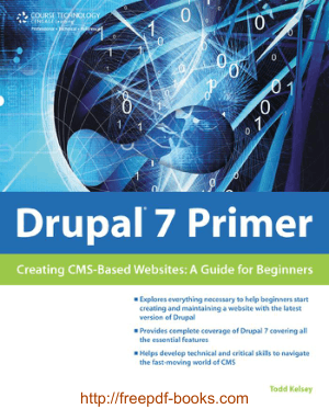 Drupal 7 Primer Creating Cms Websites