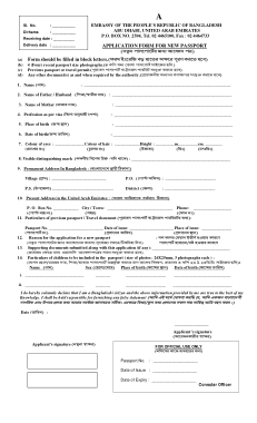 Free Download PDF Books, New Passport Application Form Template