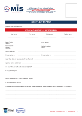 Free Download PDF Books, Employee Job Application Form Template