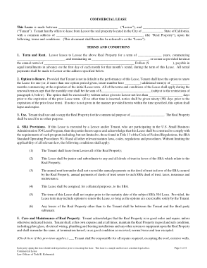 Free Download PDF Books, Commercial Lease Agreement Template