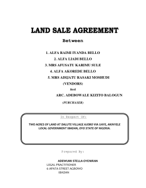Free Download PDF Books, Land Sales Agreement Template