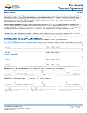 Free Download PDF Books, Residential Tenancy Agreement Form Template