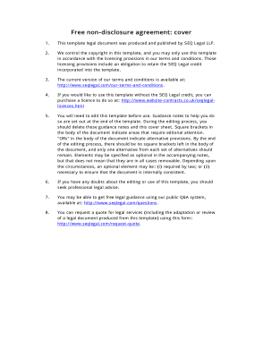 Free Download PDF Books, Sample Non Disclosure Agreement Template