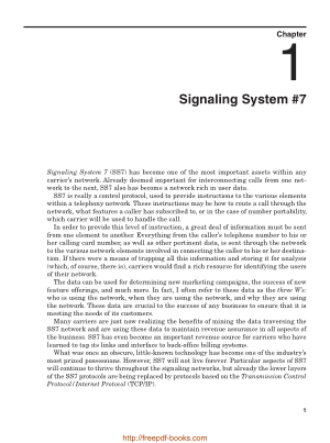 Free Download PDF Books, Signaling System 7, 6th Edition – Networking Book