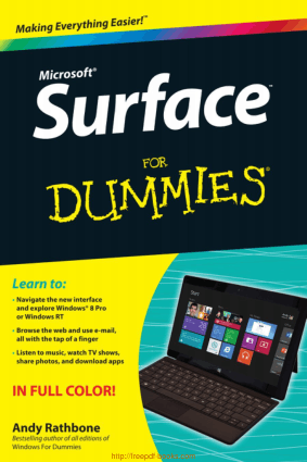 Free Download PDF Books, Surface For Dummies