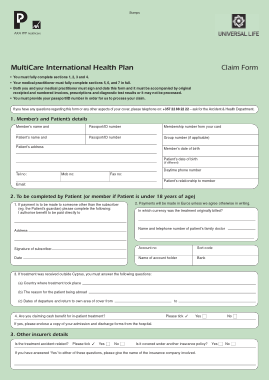 Free Download PDF Books, Patient Universal Claim Form Template