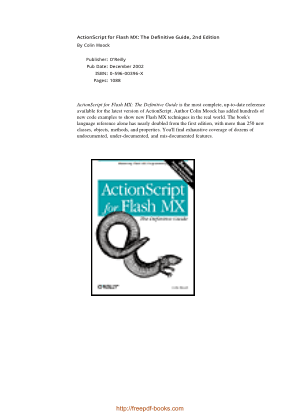 ActionScript for Flash MX The Definitive Guide 2nd Edition