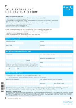 Free Download PDF Books, Sample Medical Claim Form Template