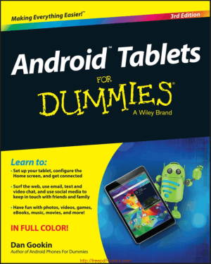 Free Download PDF Books, Android Tablets For Dummies 3rd Edition