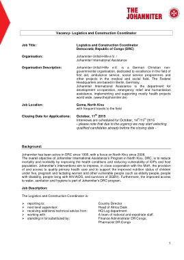 Free Download PDF Books, Construction Logistics Coordinator Job Description Template