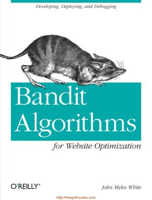 Bandit Algorithms For Website Optimization Ebook, Pdf Free Download