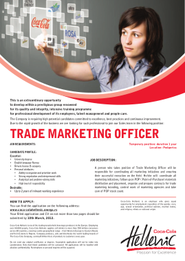 Free Download PDF Books, Trade Marketing Officer Job Description Template