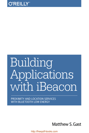 Building Applications With Ibeacon Book, Pdf Free Download