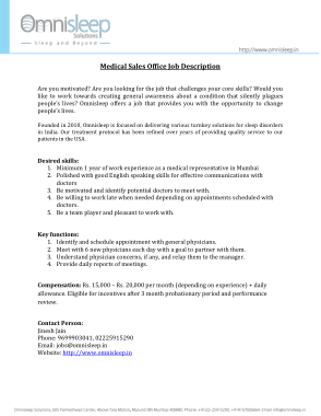 Free Download PDF Books, Medical Sales Office Job Description