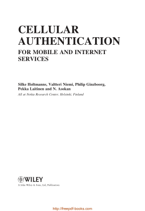 Cellular Authentication For Mobile And Internet Services Book, Pdf Free Download